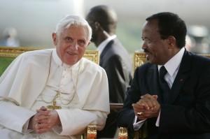 Il Papa con Paul Biya