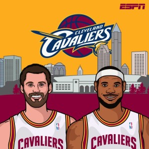 Kevin Love #0 and LeBron James #23 (espn.com)