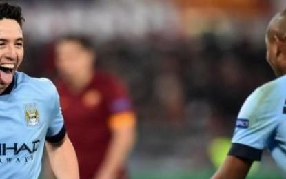 Roma-Manchester City 0-2. Decidono i gol di Nasri al 15′ st st e di Zabaleta al 40′. Roma in Europa League.