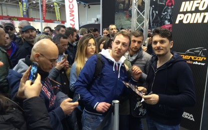 Bagno di folla per Fisichella al Salone della Moto, dove ha annunciato la seconda edizione di Supercar: dal 9 all'11 ottobre.