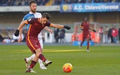 Roma beffata, il Chievo rimonta due volte e pareggia 3 a 3
