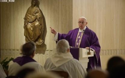 "Papa Francesco: no alla ""religione del dire"""