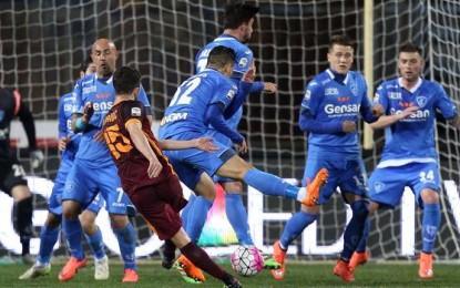 Empoli-Roma 1 a 3: Giallorossi terzi in classifica