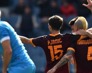 Roma-Napoli all'ultimo respiro: La Roma vince 1-0
