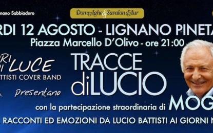 Tracce di Lucio – Mogol a Lignano Pineta il 12 Agosto