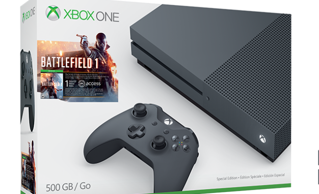 Xbox One S in bundle con BattleField 1