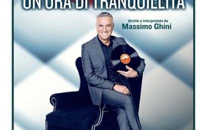 """Al Teatro Augusteo di Napoli Massimo Ghini in """"Un'ora di tranquillità""""."""