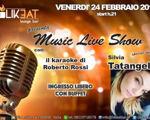 Silvia Tatangelo ospite del Likeat Lounge di Volla. Venerdi Live Show con karaoke e tante sorprese