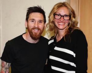 Dopo il Clasico al Bernabeu spunta Julia Roberts, ma l'Oscar va sempre a Leo Messi