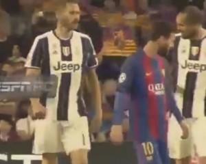 """UCL. Bonucci chiede la maglietta a Messi e Chiellini lo """"rimprovera""""…mai distrarsi !"""
