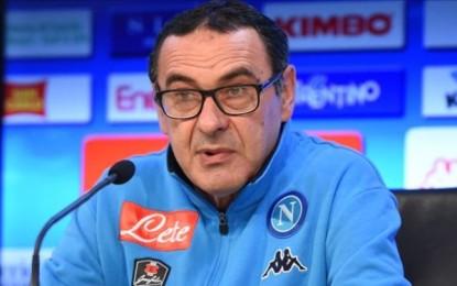 """Sarri:""""Nessuna ripercussione, prova solita con 27 tiri"""".  Di Francesco:"""" """"Azione finalizzata da Dzeko in stile Napoli! """""""