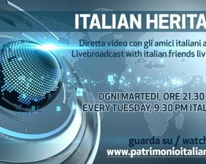 Questa sera alle 21.30 'Italian Heritage' su Patrimonio Italiano TV: super ospiti Federico Tozzi e Antimo Magnotta