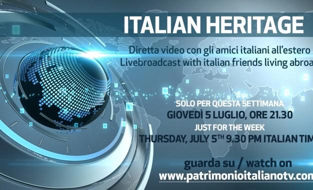 Questa sera alle 21.30 'Italian Heritage' su Patrimonio Italiano TV: un parterre de rois per l'ultima diretta prima della pausa