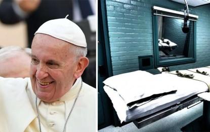 """Papa Francesco: """"La pena di morte è inammissibile perché attenta all'inviolabilità e dignità della persona"""""""