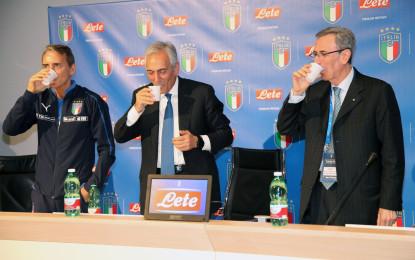 """Lete rinnova l'accordo con la Figc fino al 2022. Orgoglioso della partnership il presidente federale, Gabriele Gravina: """"Ancora al nostro fianco una delle eccellenze del nostro Paese"""""""