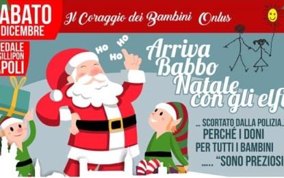 Tony Figo, Mr Hyde, Maria Bolignano ed ovviamente Babbo Natale e gli Elfi all'Ospedale pediatrico Santobono di Napoli.